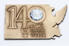 Placa 140º aniversário